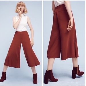 The Essential Culotte by Anthropologie, Brick Red